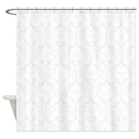 Light Grey Damask Shower Curtain By Zandiepantshomedecor