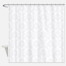 Grey Damask Shower Curtains Grey Damask Fabric Shower Curtain Liner