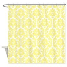 Light Yellow Damask Shower Curtain