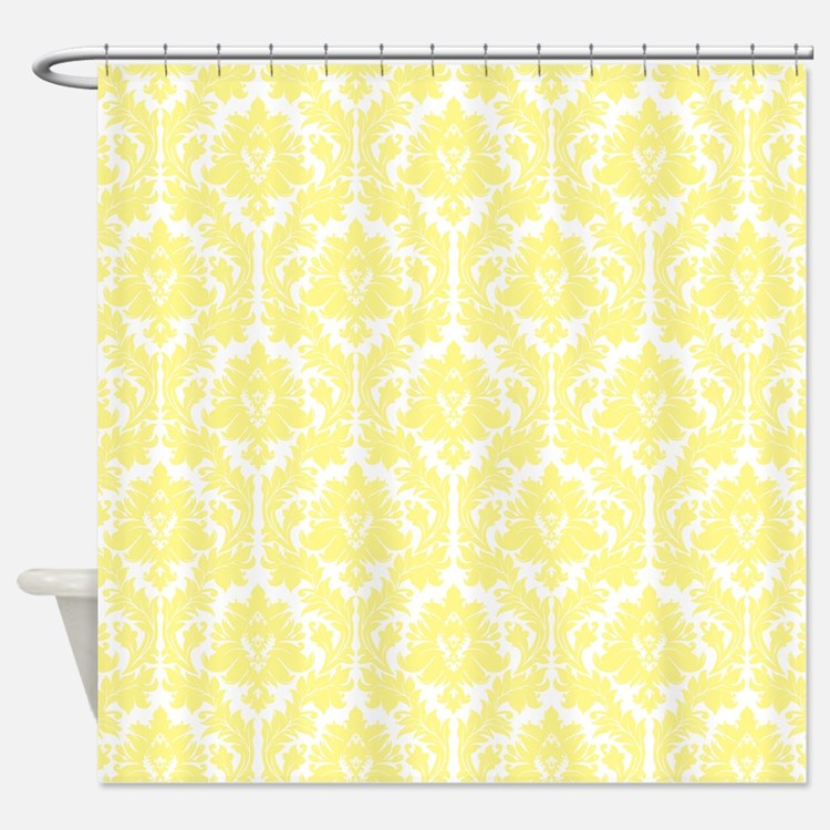 Yellow Damask Shower Curtains Yellow Damask Fabric Shower Curtain Liner