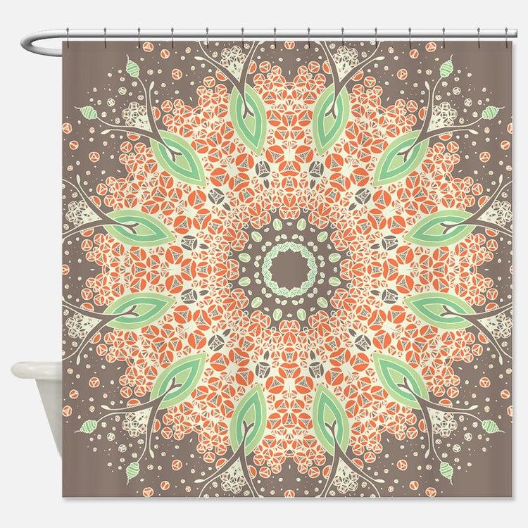 Mandala of Growth Shower Curtain