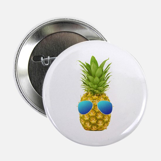 "Cool Pineapple 2.25"" Button"