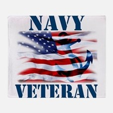 Navy Veteran copy Throw Blanket