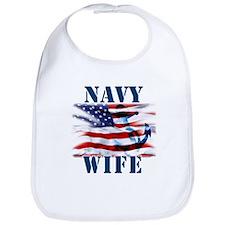 Navy Wife Bib