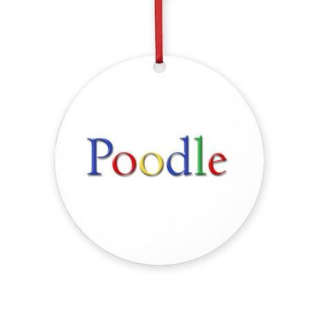 Poodle Ornament (Round)