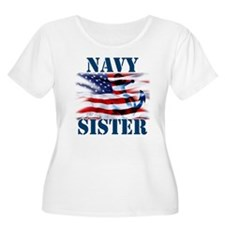 Navy Sister Plus Size T-Shirt