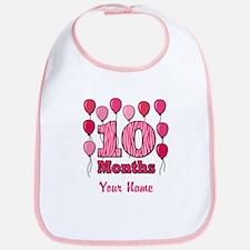 Ten Months - Baby Milestones Bib