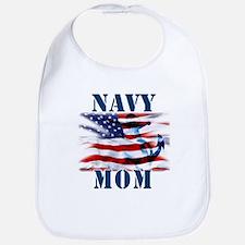 Navy Mom Bib