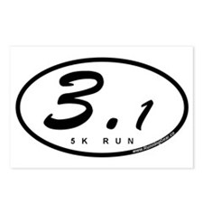 Oval 3.1 Miles 5k Postcards (Package of 8)