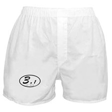 Oval 3.1 Miles 5k Boxer Shorts