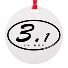 Oval 3.1 Miles 5k Ornament