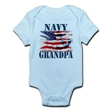 Navy Grandpa Body Suit