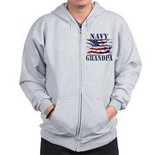 Navy Grandpa Zip Hoodie