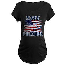 Navy Grandpa Maternity T-Shirt