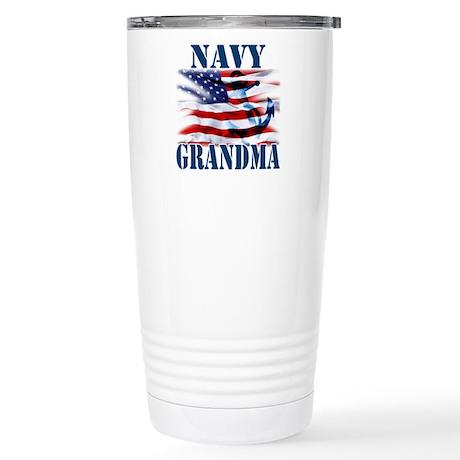 Navy Grandma Travel Mug