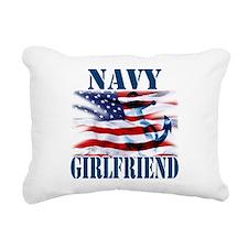 Navy Girlfriend Rectangular Canvas Pillow