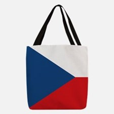 Czechia Flag Polyester Tote Bag