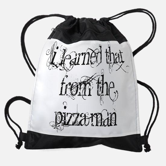 Pizza Man 1 Drawstring Bag