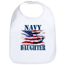 Navy Daughter Bib