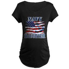 Navy Daughter Maternity T-Shirt