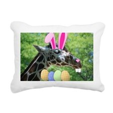 Easter Giraffe Rectangular Canvas Pillow