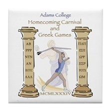Adams College Homecoming Tile Coaster