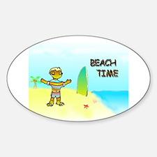 Beachtime Oval Decal