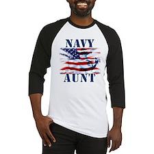 Navy Aunt Baseball Jersey