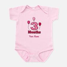 Three Months - Baby Milestones Body Suit
