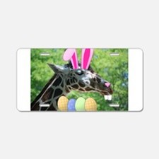 Easter Giraffe Aluminum License Plate