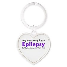 My son may have epilepsy Heart Keychain