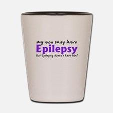 My son may have epilepsy Shot Glass