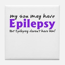 My son may have epilepsy Tile Coaster