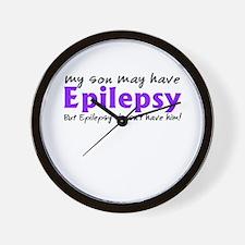 My son may have epilepsy Wall Clock