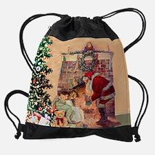 Cute Twas the night before christmas Drawstring Bag
