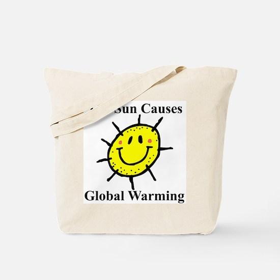 Sun Causes Global Warming Tote Bag