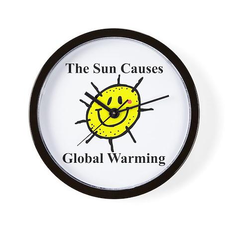 Sun Causes Global Warming Wall Clock