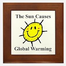 Sun Causes Global Warming Framed Tile
