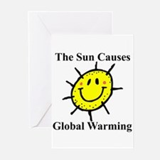 Sun Causes Global Warming Greeting Cards (Package