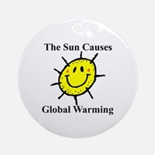 Sun Causes Global Warming Ornament (Round)
