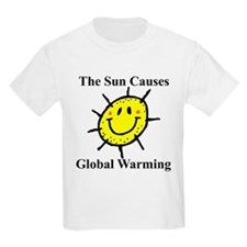 Sun Causes Global Warming Kids T-Shirt