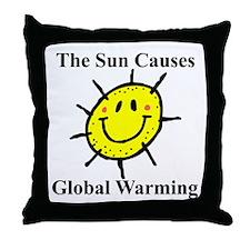 Sun Causes Global Warming Throw Pillow