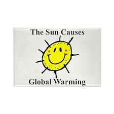 Sun Causes Global Warming Rectangle Magnet