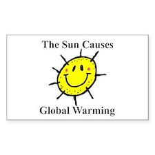 Sun Causes Global Warming Rectangle Decal
