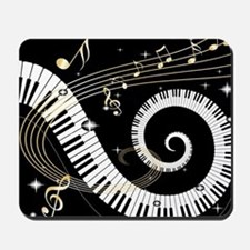 Piano and musical notes Mousepad