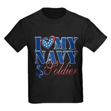 I Love My Navy Soldier T-Shirt