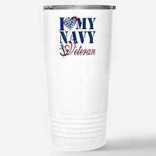 I Love My Navy Veteran Travel Mug