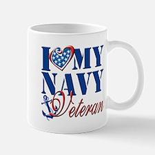 I Love My Navy Veteran Mug