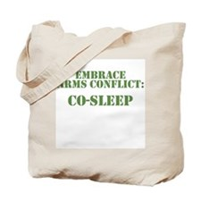 Embrace Arms Conflict: Co-Sleep Tote Bag