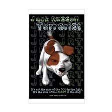 Jack Russell Terrorist Rectangle Decal